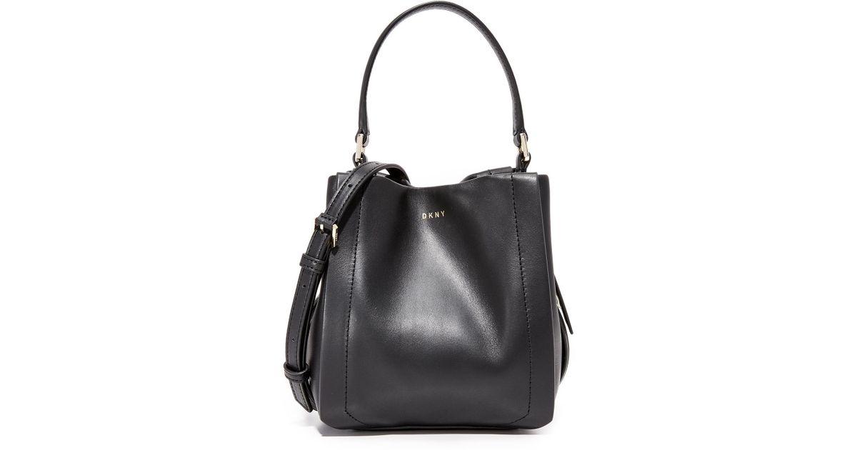 0897ae374d4c Lyst - DKNY Greenwich Mini Bucket Bag in Black