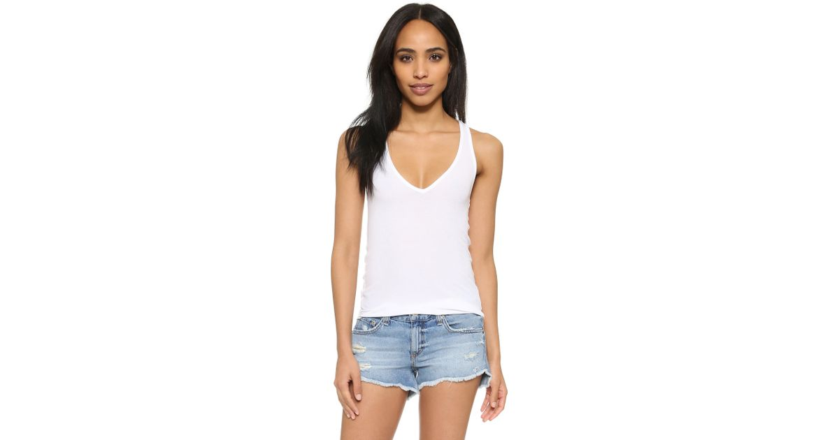 Feel The Piece Lilith V Neck Ribbed Tank In White Lyst