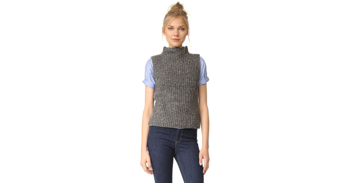 5add9d54ecdc5c Lyst - Madewell Donegal Madison Sleeveless Pullover in Blue