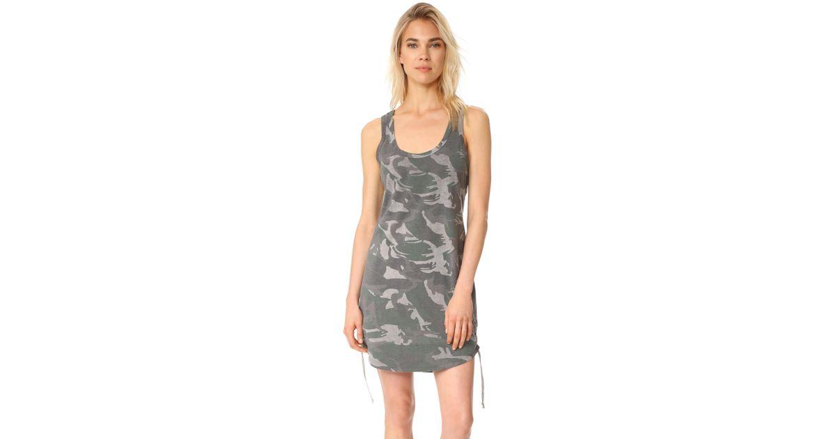 40b22ce5408be Lyst - Pam & Gela Racerback Tank Dress in Gray