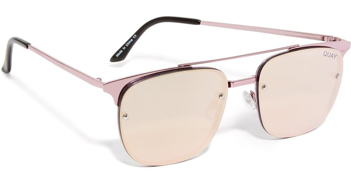 Women's Pink Private Eyes Sunglasses