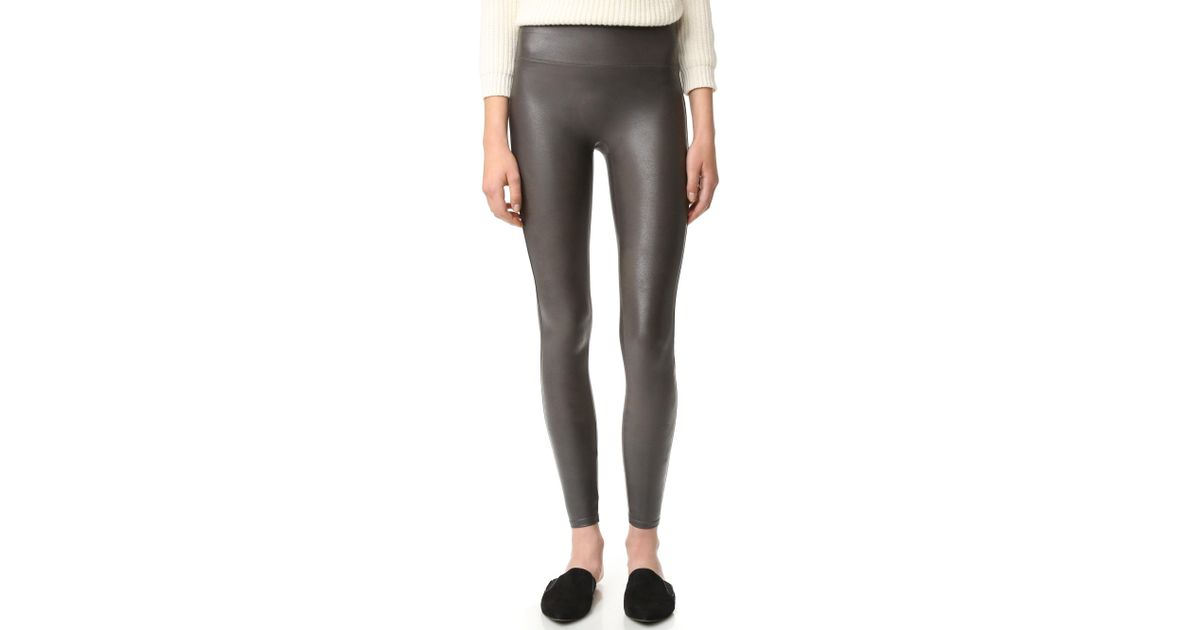 Womens Spanx Faux Leather Leggings pictures