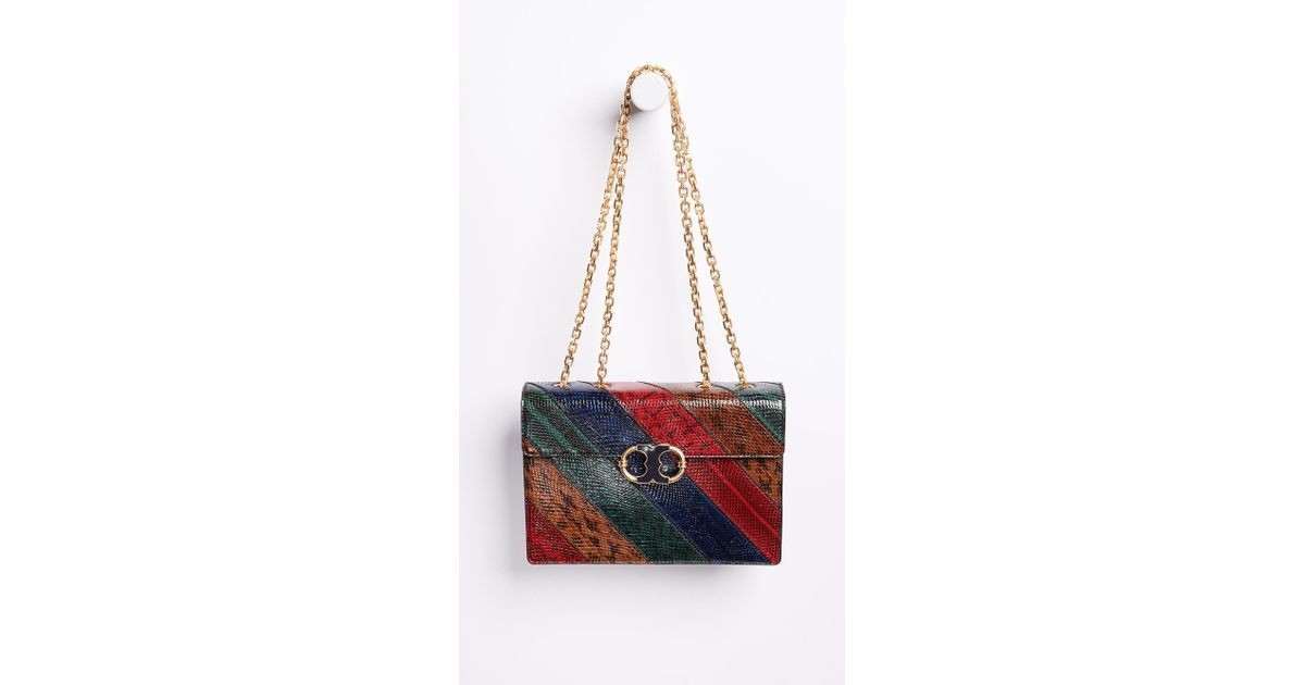 bae6764418b81 Lyst - Tory Burch Gemini Link Chain Snake Shoulder Bag