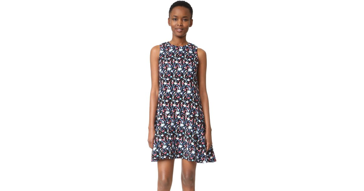 a112cd7e793f Lyst - Tanya Taylor Leaf Floral Crepe Adalia Dress