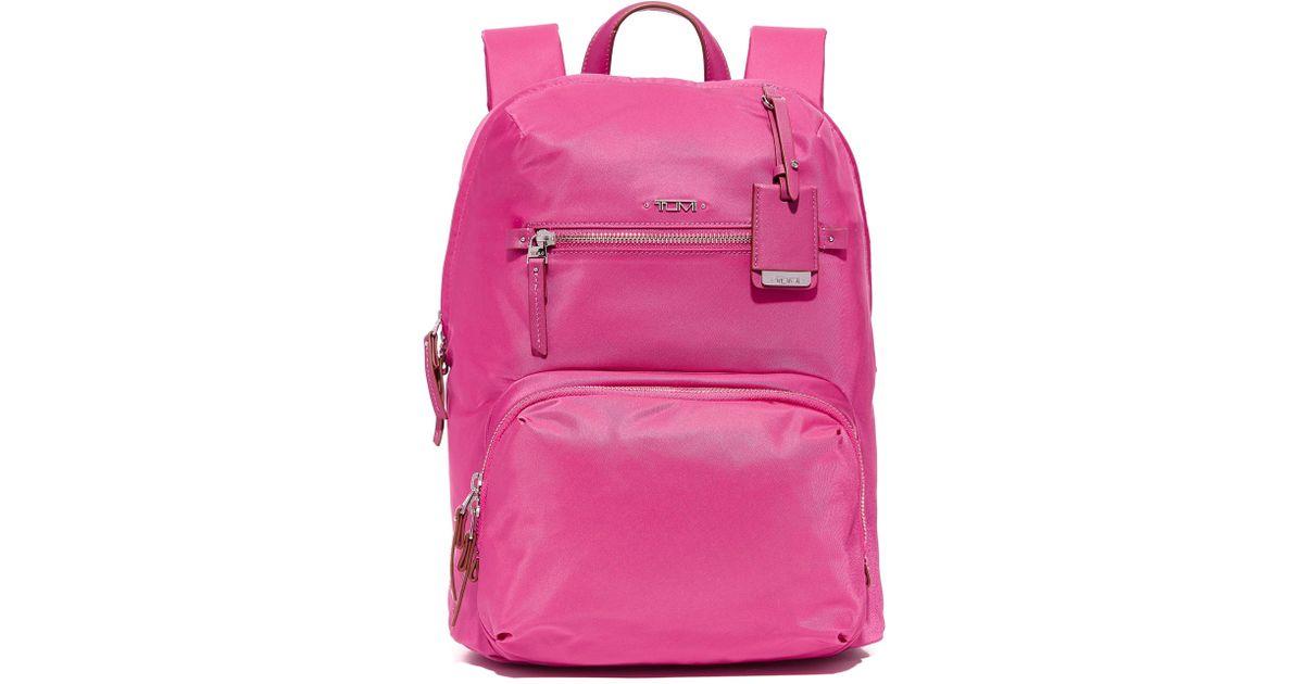 139b71430af4 Lyst - Tumi Halle Backpack in Pink