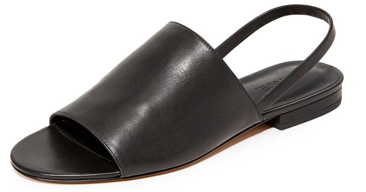 5c0894f7851 Lyst - Vince Dawson Slingback Sandals in Black
