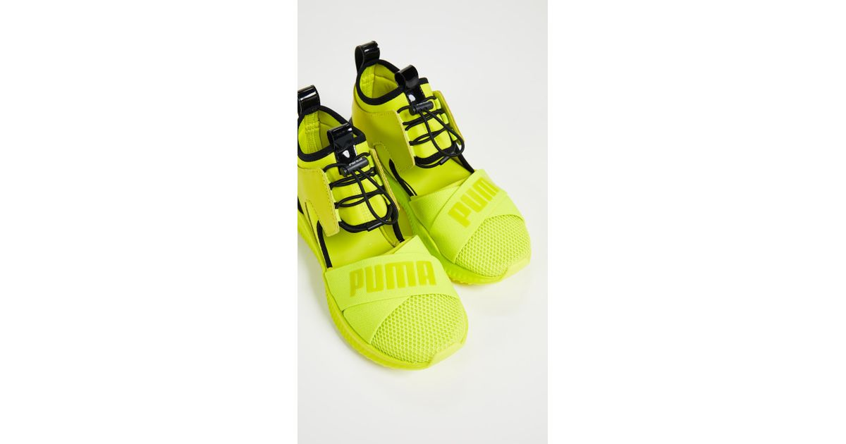 Lyst - PUMA X Fenty Avid Sneakers in Yellow 8dc7d7a7c