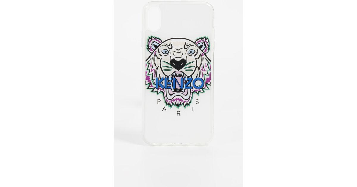 KENZO White Coque Iphone Xs Max Tiger Head Case