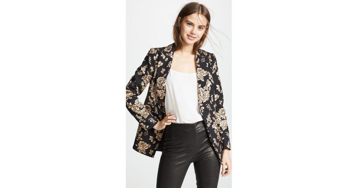 ae2240b930c86 Lyst - Michelle Mason Boxy Blazer in Black