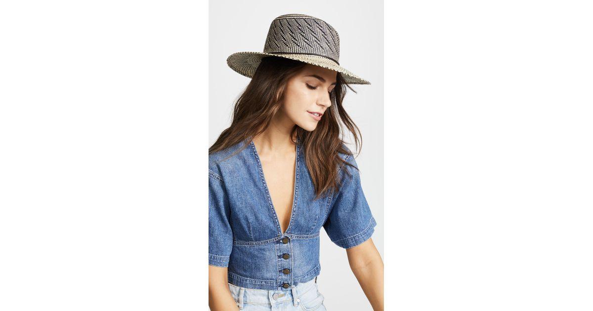 Lyst - Rag   Bone Zoe Straw Hat in Blue 716e955b0ed3