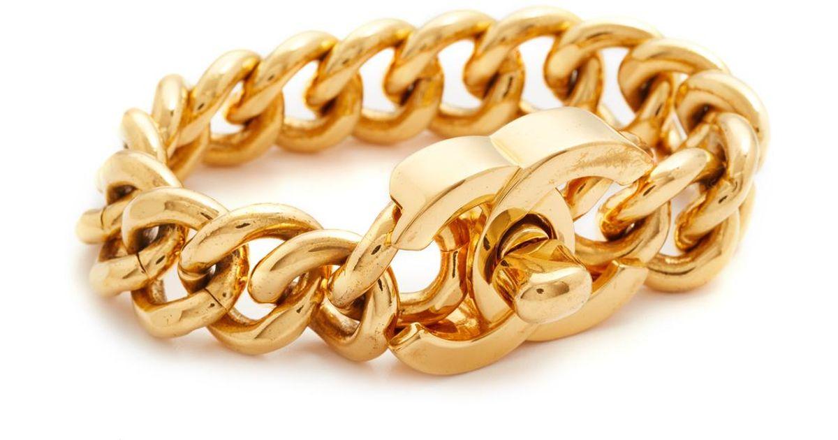 Around Large Chanel Turn Lock Bracelet