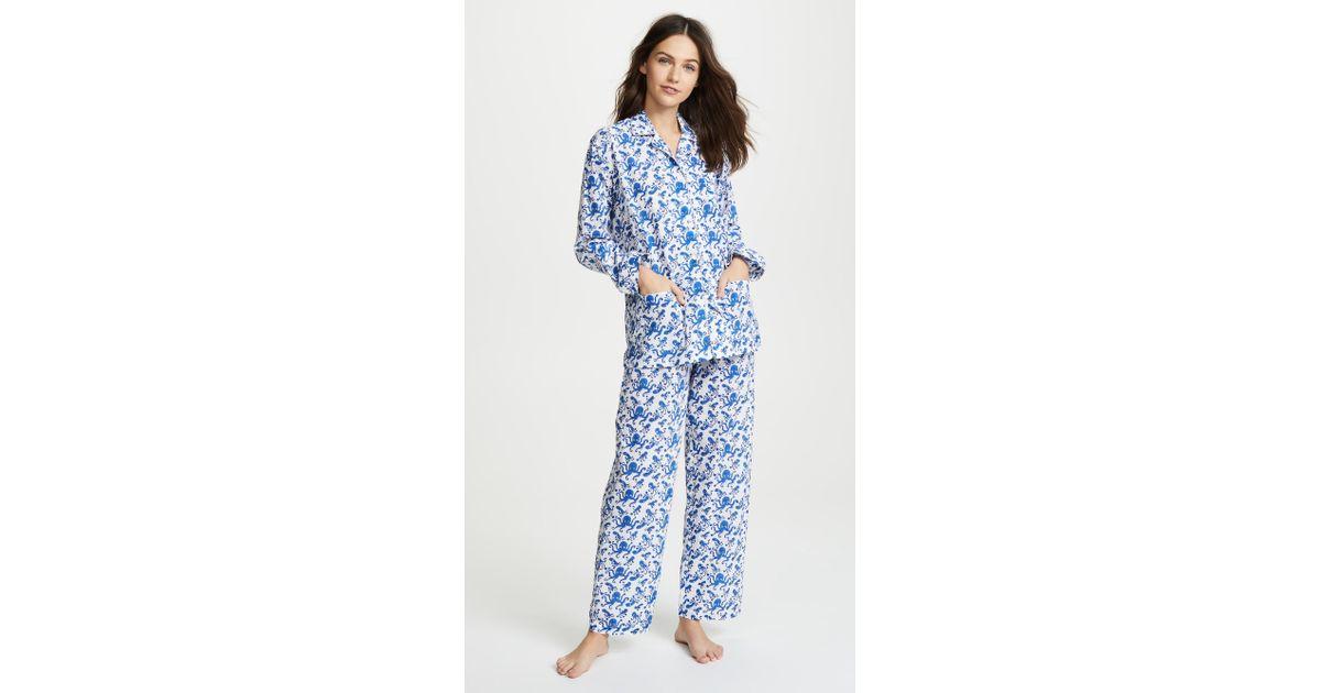 4a1cdaf114 Lyst - Roberta Roller Rabbit Octo Pajama Set in Blue