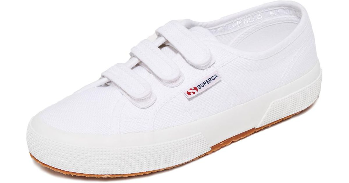 0bc1632a9f57d Superga White 2750 Velcro Sneakers