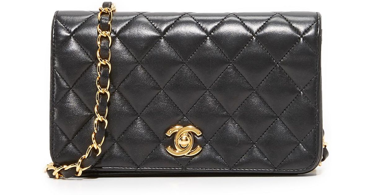 975e6df2036f03 What Goes Around Comes Around Chanel Mini Flap Bag (previously Owned) in  Black - Lyst