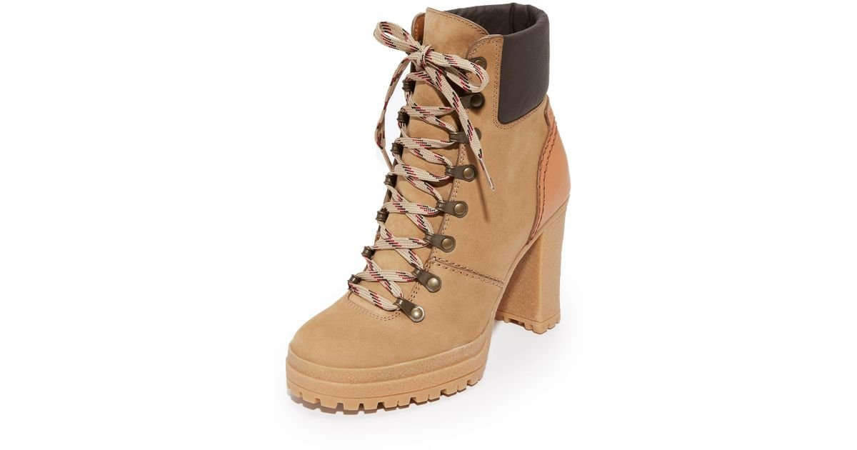 3ad40f9cde3 See By Chloé Multicolor Eileen Lace Up Boots