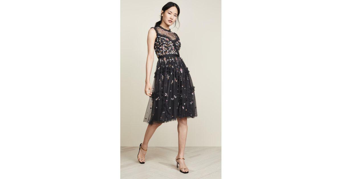 262e78e51619 Lyst - Needle   Thread Shimmer Ditsy Dress in Black