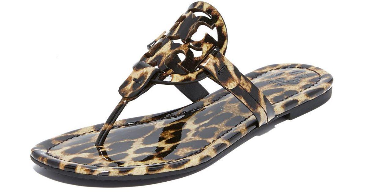 65d264d2aa3b Tory Burch Women s Miller Leopard Print Thong Sandals - Save 46% - Lyst