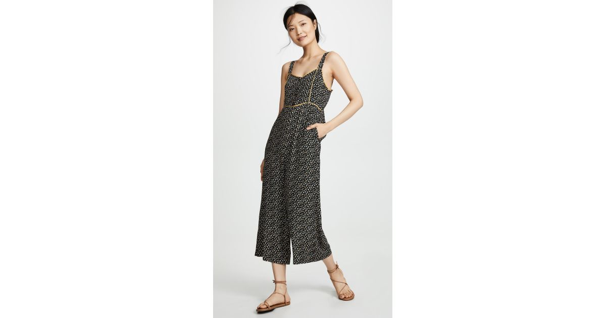 f83af4236d Lyst - Madewell Button Front Wide Leg Jumpsuit in Black