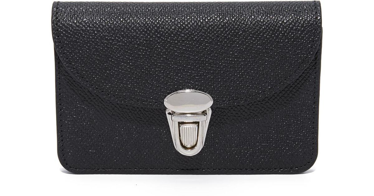 Lyst - Cambridge Satchel Company Small Push Lock Purse in Black e73de99a1b4f