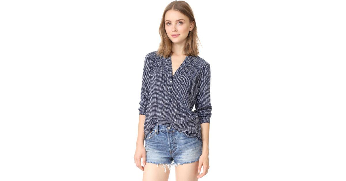 90647f4781878 Lyst - Soft Joie Rosalynn Blouse in Blue