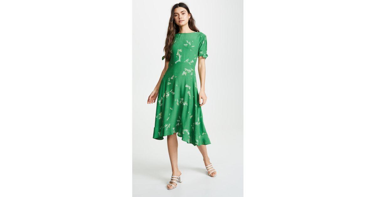 a58f7893dda3 Faithfull The Brand Emilia Floral Midi Dress - Womens S in Green - Lyst