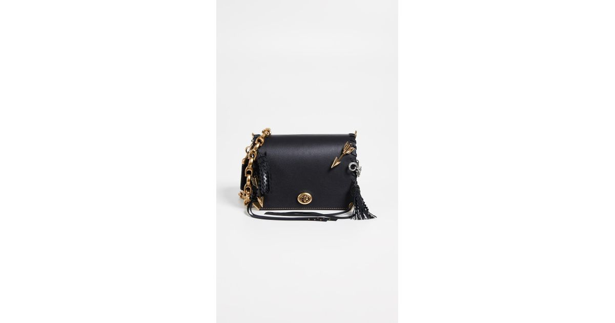 87f5d00f COACH Black Dinky 19 Crossbody Bag With Charms And Leather Strap