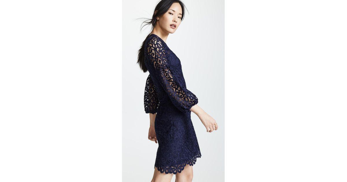 Shoshanna Blue Vina Dress