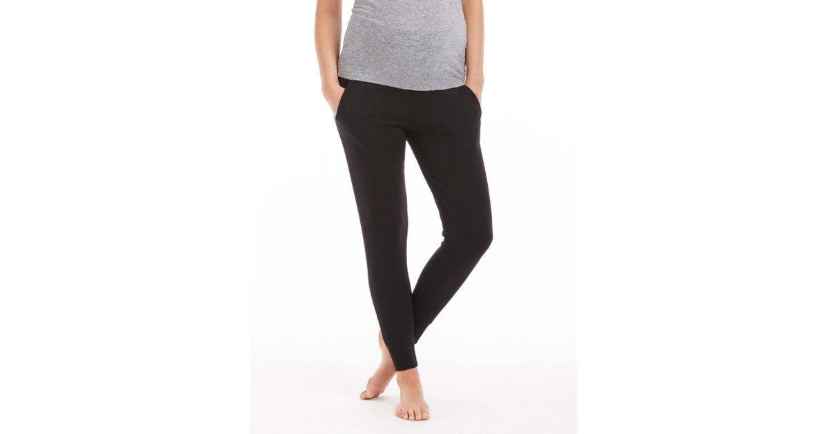 7091a2be5e7dd Lyst - Beyond Yoga Cozy Fleece Foldover Long Sweatpant in Black