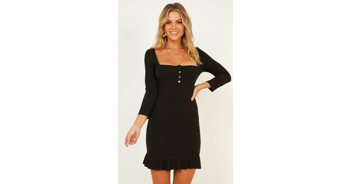 a897555445f Lyst - Showpo Boy Im Just Playing Dress in Black