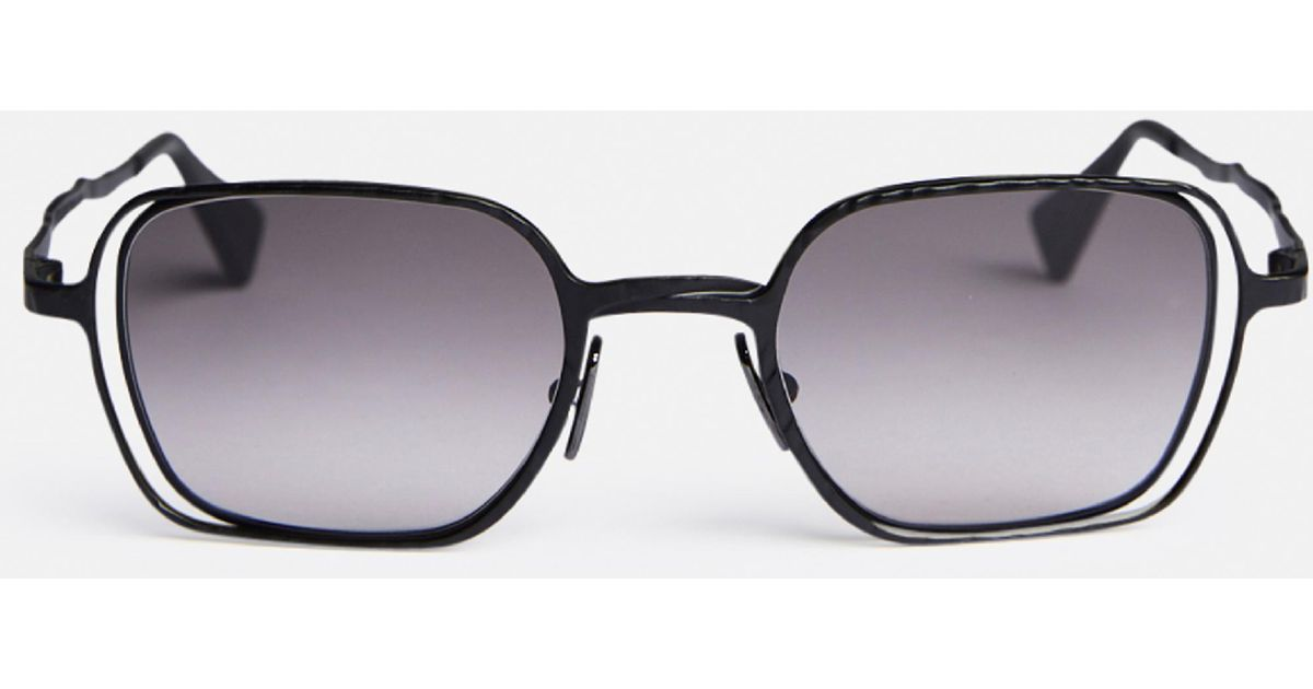 round double frames sunglasses - Black Kuboraum p4Q2h