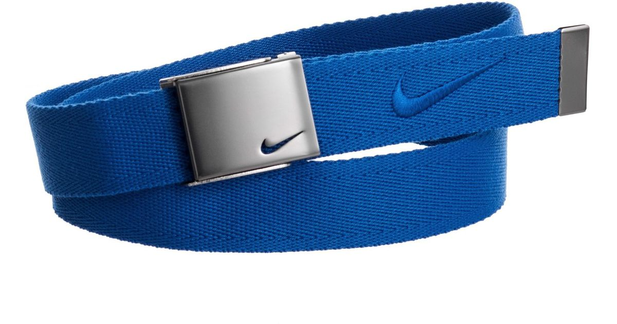 1b9915b5fa5 Lyst - Nike Embroidered Logo Web Belt (for Men) in Blue