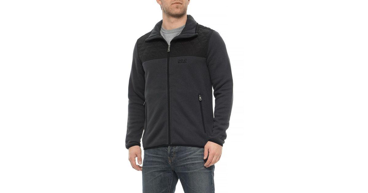 f75808351 Jack Wolfskin Black Mackenzie River Fleece Jacket for men