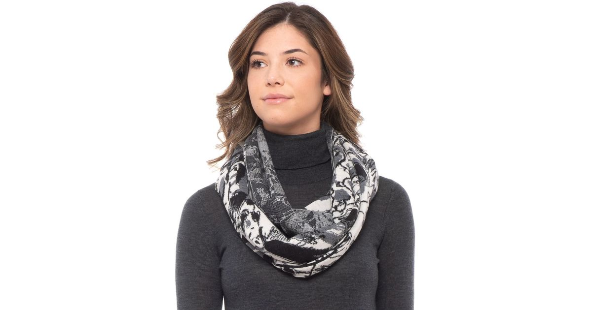 46577dac4d Krimson Klover Gray In The Loop Illustrated Infinity Scarf