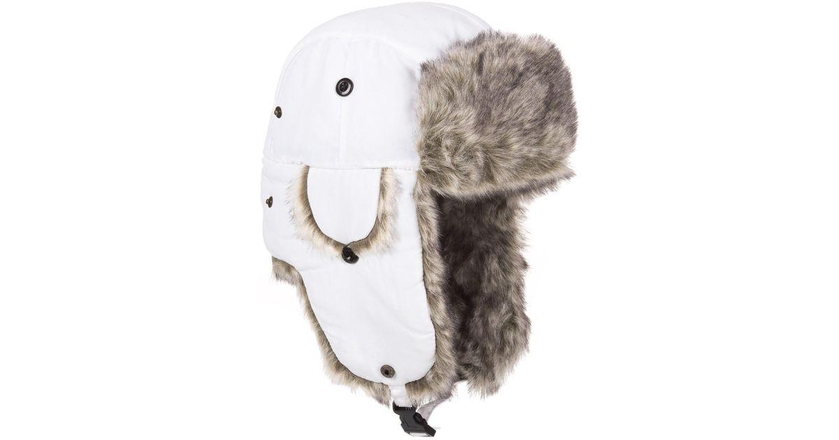 Lyst - Woolrich Faux-fur Trapper Hat (for Men) in White for Men 45ed5fe635e