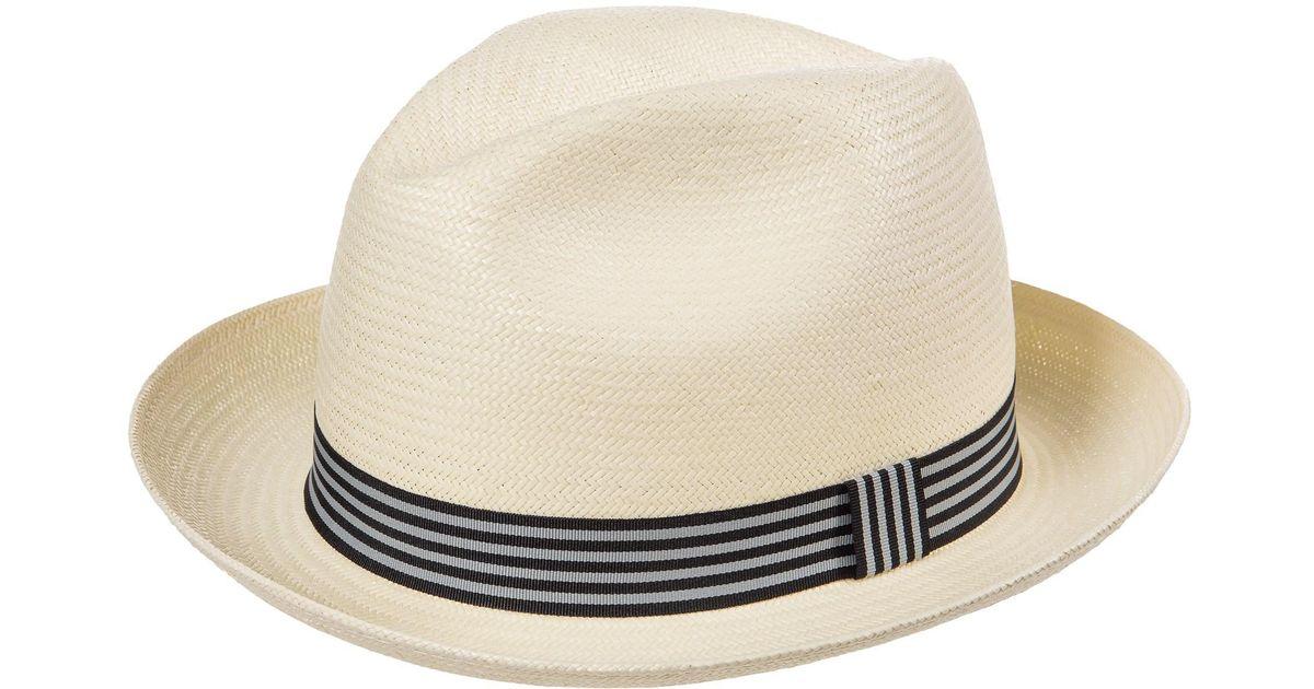 Lyst Tilley Shantung Raffia Fedora Hat In White For Men 213c2651c99a