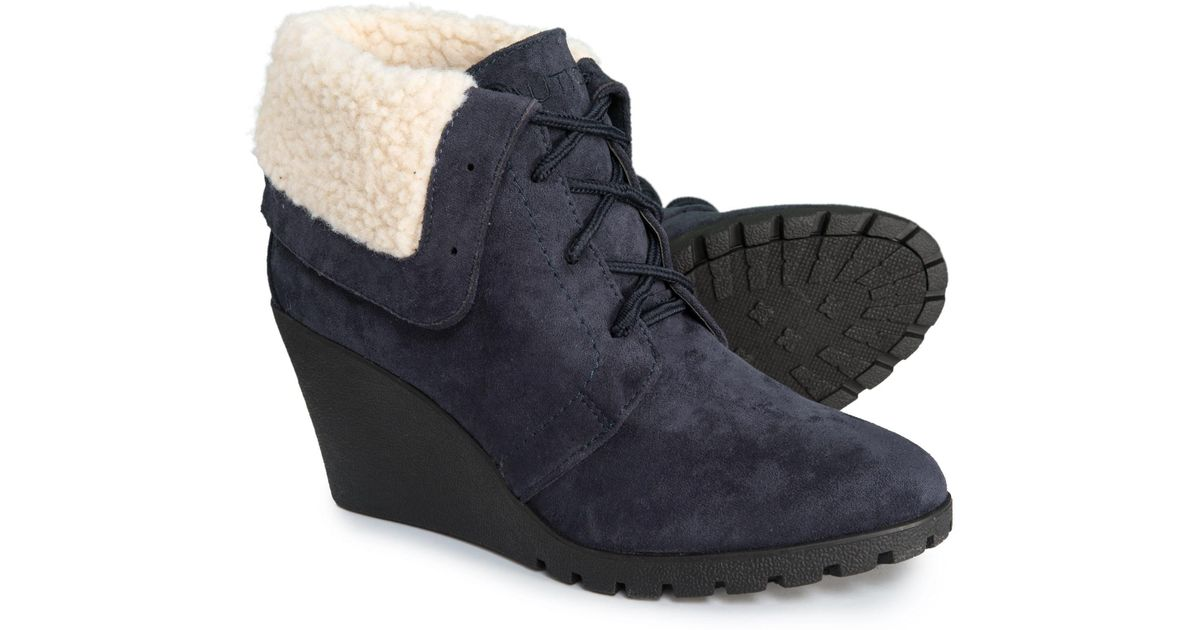 3a6c4a19fa6 Lyst - Nautica New Rendon Wedge Ankle Boots (for Women) in Blue