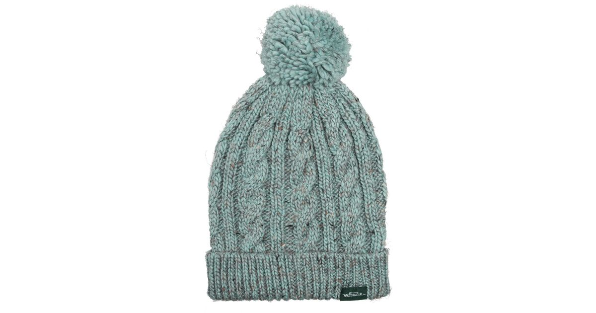 c0db444d81909 Lyst - Woolrich Cable Knit Beanie (for Women) in Blue