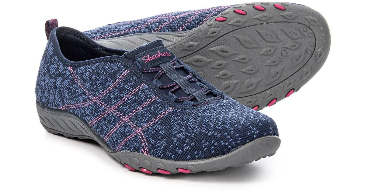 Skechers Blue Breathe Easy Just Chill Shoes