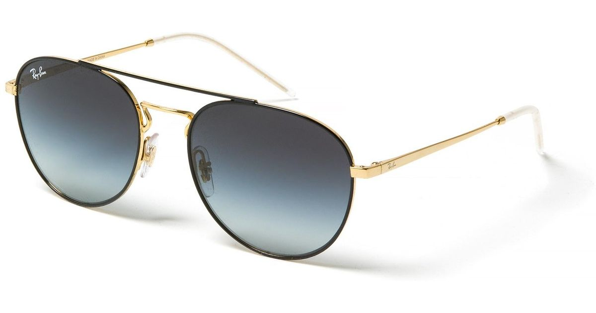 9b2758f6b25 Lyst - Ray-Ban Rb3589 Metal Round Aviator Sunglasses in Metallic for Men