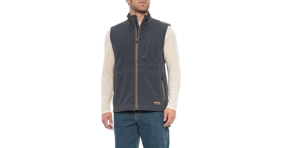 eddcf4835274 Lyst - Ariat Rebar Canvas Soft Shell Vest (for Men) in Blue for Men