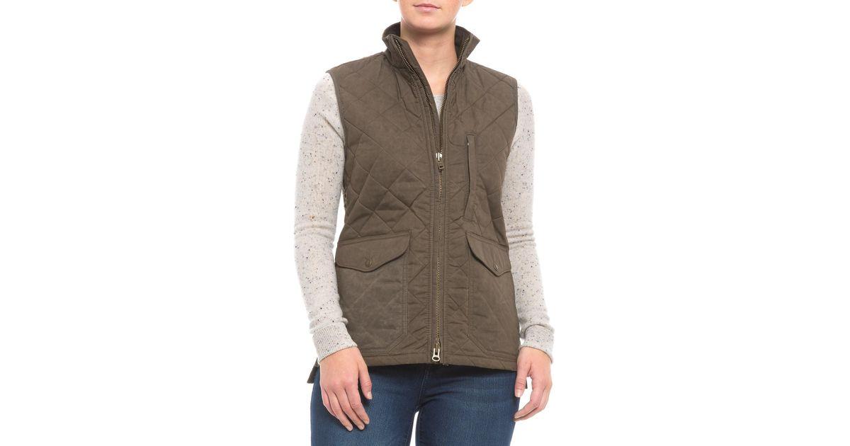 Filson Green Quilted Mile Marker Vest For Women