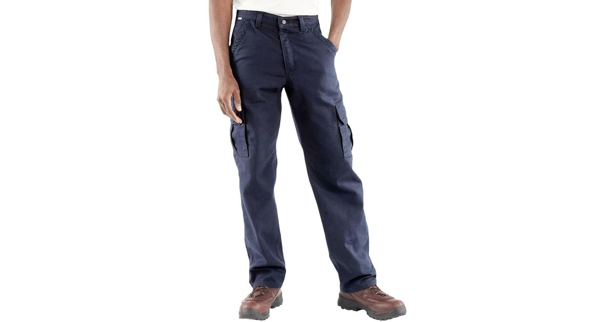 e568a270accc Lyst - Carhartt Fr Flame-resistant Canvas Cargo Pants (for Men) in Blue for  Men