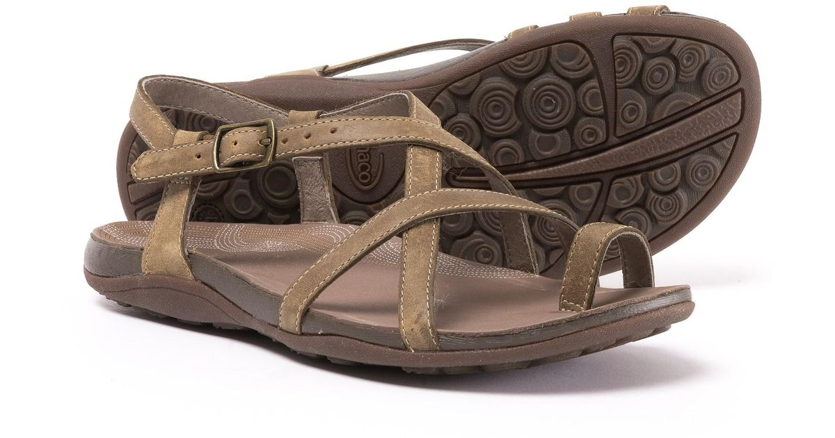 92bea68ffe16 Lyst - Chaco Dorra Leather Sandals (for Women) in Brown