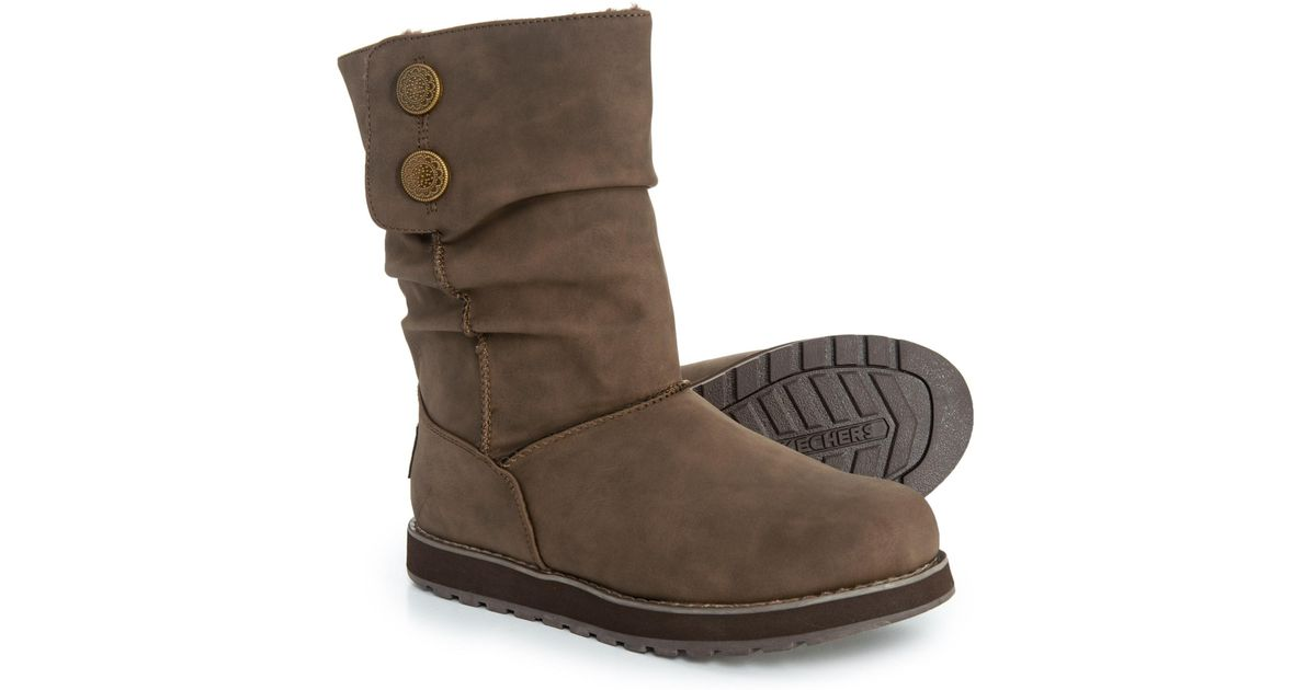 f3180cf3872 Skechers - Brown Keepsakes Slouch Boots (for Women) - Lyst
