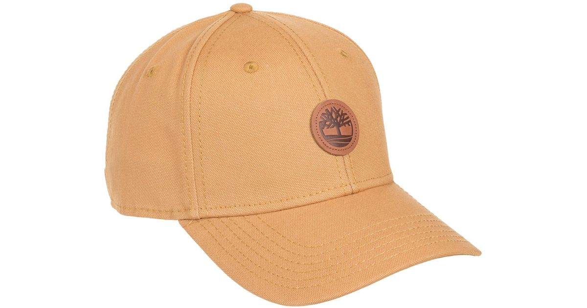 e0d01e8db9dfaa Lyst - Timberland Cotton Baseball Cap (for Men) in Natural for Men