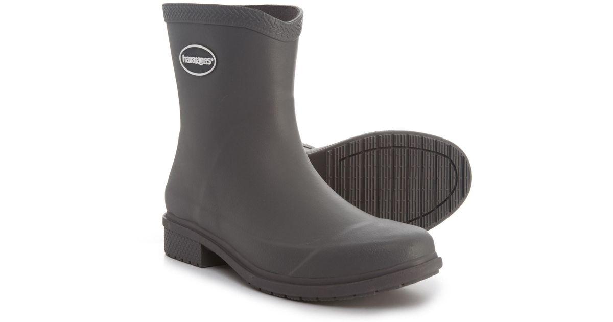f751ea8106bd Lyst - Havaianas Galochas Low Matte Rain Boots in Gray