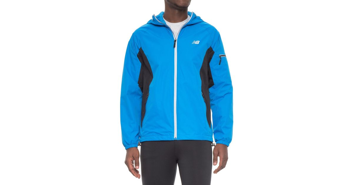 31f973d20f754 New Balance Color-block Rain And Wind Jacket in Blue for Men - Lyst