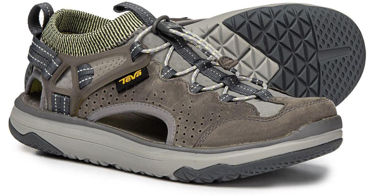 83e1c2b5fa12 Teva Omnium 2 Turkish Coffee Leather Water Shoes Sandals Closed Toe 1019179  Sz12