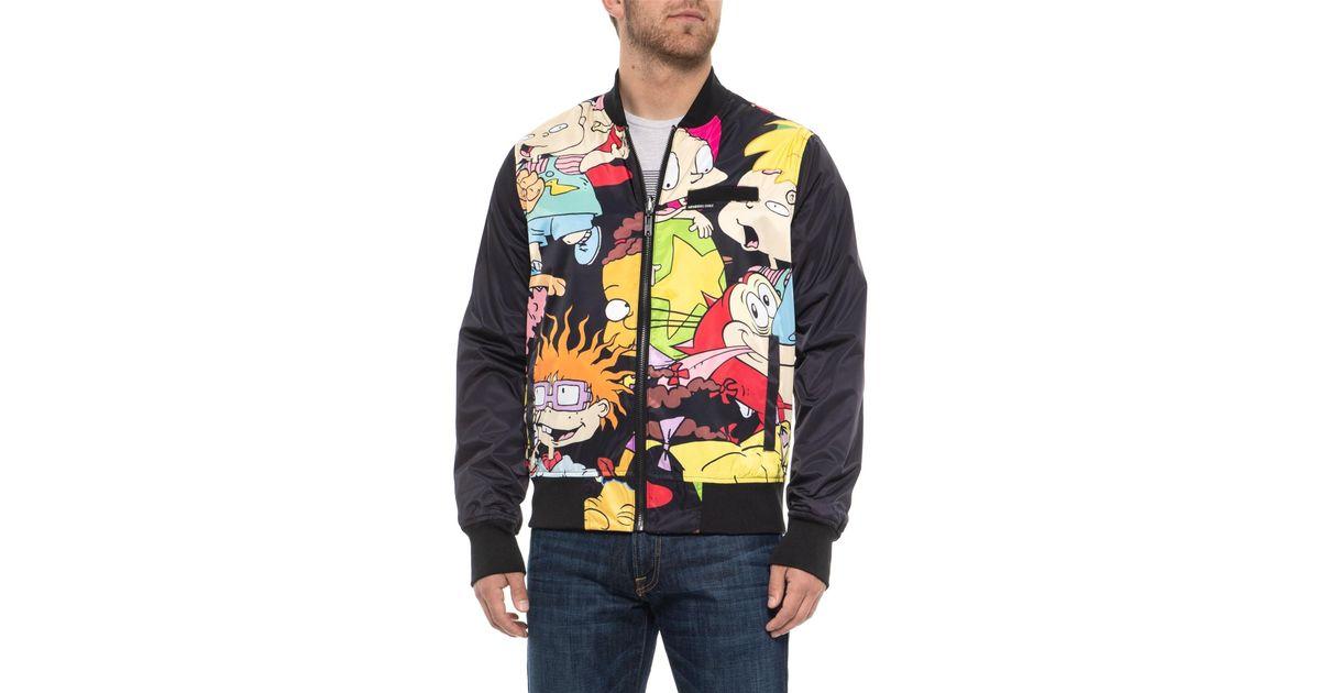 41f59a92e Members Only Black Nickelodeon Reversible Bomber Jacket (for Men) for men