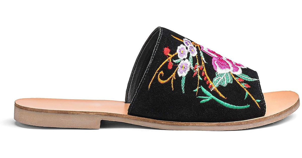 6f9507012a4 Simply Be Fifi Embroidered Mule Eee Fit in Black - Lyst